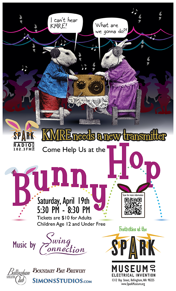 Spark Museum Bunny Hop Poster